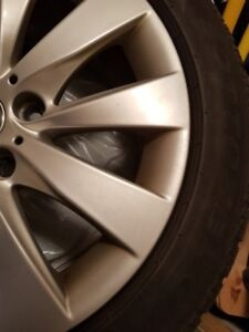 Pirelli run flat tires and BMW OEM rims 17 inch