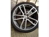 """Genuine ABT 22"""" Porsche wheels 5x130 Pirelli tyres"""