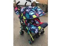 Cosatto Supa Dupa twin pushchair cuddle monster