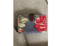 Cath Kidston Red Rose Folded Zip Wallet/Purse