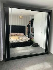 💥💯50% OFF SALE 2 AND 3 DOORS SLIDING WARDROBES WITH FULL MIRRORS, SHELVES, RAILS