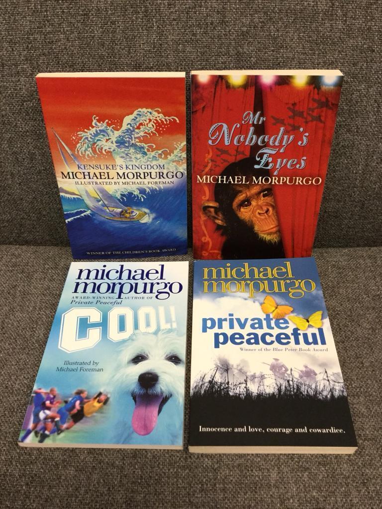 4x MICHAEL MORPURAGO Children's pb books SDHC