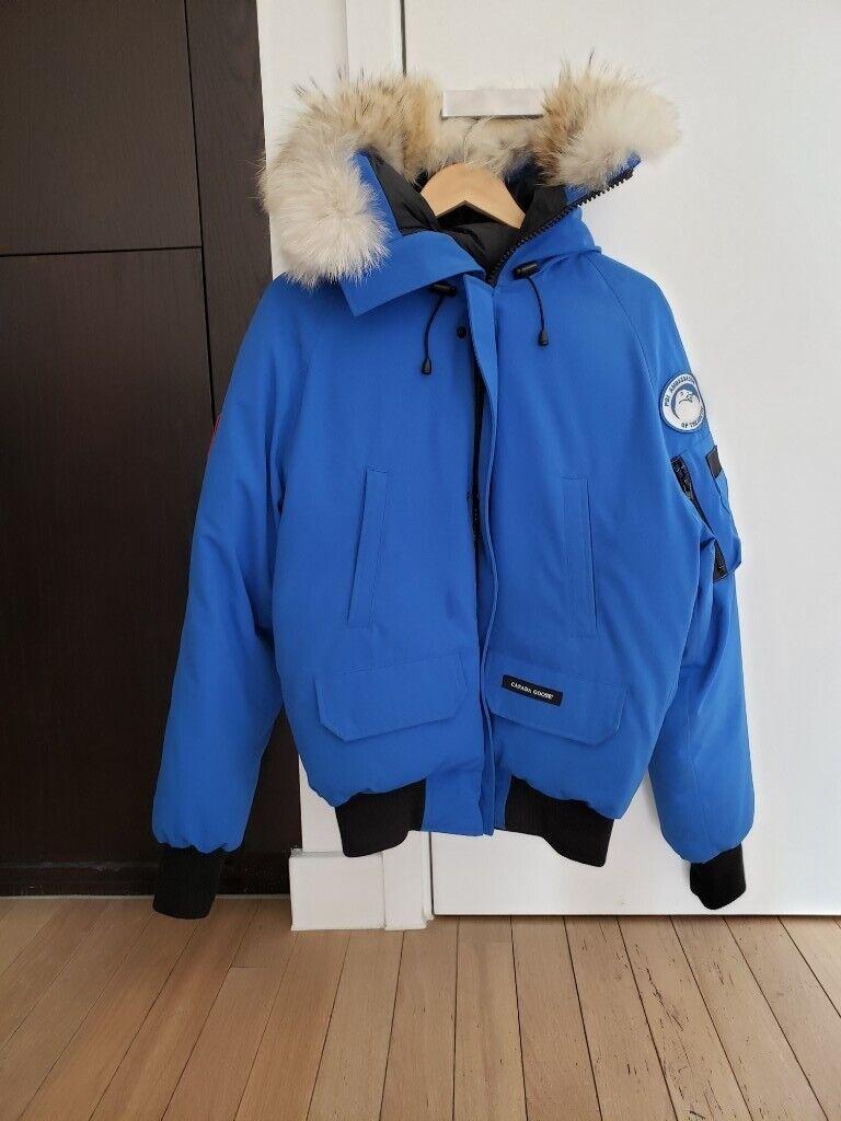 Canada Goose Chilliwack PBI blue fur trimmed shell coat S size £400 | in London | Gumtree