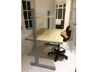 IKEA Desk with Swivel Chair