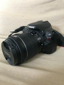 Canon DSLR EOS Kiss x7 with standard 18-55mm lens for sale. Like new!