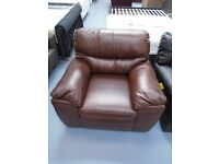 Brand New Light Brown Leather Chair. Can Deliver. Only 1 Of These Available