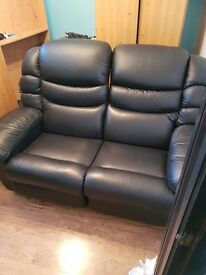 2 seater leather Lazy Boy sofa