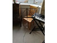 folding silver metal orchestral stand
