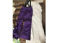 Salopettes ski pants size 8 XS