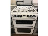 60CM WHITE STOVES GAS COOKER DOUBLE OVEN