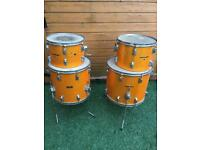 Pearl Wood Fiberglass Drums