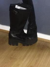 Black goth like boots