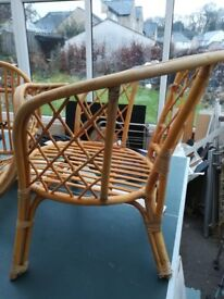 2 conservatory arm chairs to sale