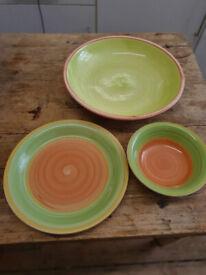 Large Vintage Fruit Bowl/Soup Bowl/Dinner Plate for sale