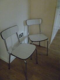 2 x 1950/1960s breakfast chairs
