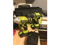 Hammer and impact hammer drill set