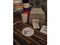 Ribbon Printer/Writer with lots of accessories as hardly used