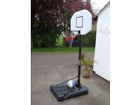 PROFESSIONAL PORTABLE ADJUSTABLE BASKETBALL STAND AND NET WITH HOOP BACKBOARD