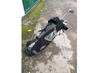 Junior Ogre backpack golf club bag, including clubs, balls and other great accessories