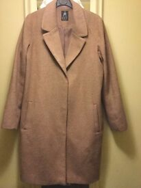 Primark Long Coat-Size 10-Camel Colour-Only £10=VGCon