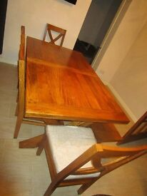 Table 4 chairs & bench