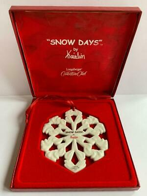 Longaberger Collectors Club Snow Days by Kaitlin 2000 Christmas gift 2000 Collectors Club