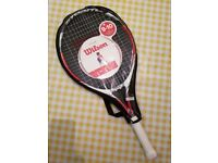 """Childrens Tennis Racket by Wilson, New. Protective Sleeve. Ages 9-10. 25"""" Racket"""