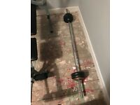 Weight bench with Barbell