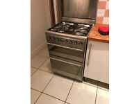 Smeg double oven with 4 ring gas hob