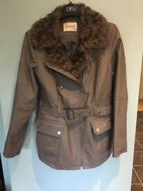 Marks and Spencer Indigo Collection Jacket Size 12 Grey/Mink