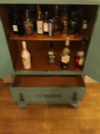 upcycled tallboy with two drawers and storage