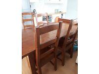 Reclaimed wood irish coast dining table and chairs £110 ono