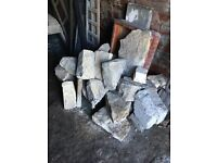 Natural stone for rockery or building