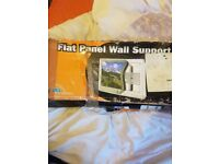 Tv flat panel wall support