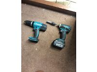 Makita impact driver and combi drill with battery