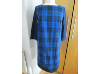 Checkered dress with, Size S