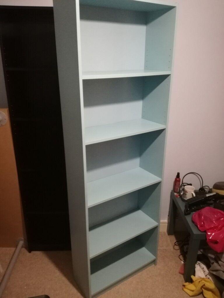 IKEA Light Blue Shelves Bookcase Bookshelf Storage Furniture As New Condition