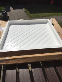 Caravan shower tray