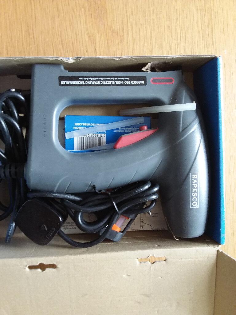 Rapesco pro 140EL electric stapling tacker/nailer BNIB | in Benfleet ...