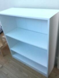 White extra deep Bookcase