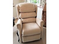 Riser recliner chair, Royams, dual motor, excellent condition, neutral colour.
