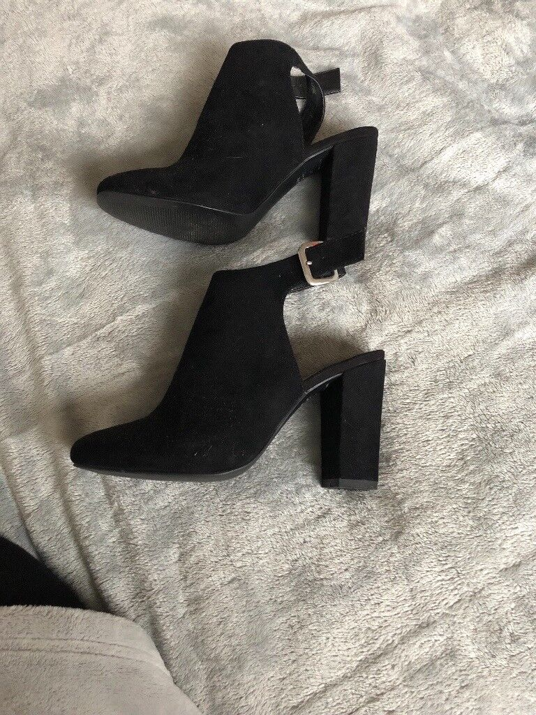 Black new look heels