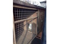 Large size dog kennel with run.