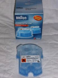 Braun Electric Shaver Cleaning Fluid Cartridges x3