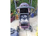 baby weaver pram push chair with rain cover cosy toes and car seat adaptors
