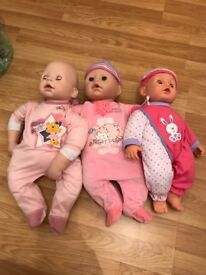Babies/ baby doll/ baby anabelle/ baby cot/ pram/ car seat
