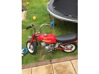 Mini monkey 50cc runs and rides easy tidy up
