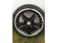 """Audi 18"""" alloys and tyres"""