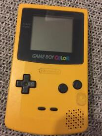 Game Boy Color with Tetris