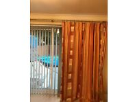 Hilary fabric vertical blinds for patio window